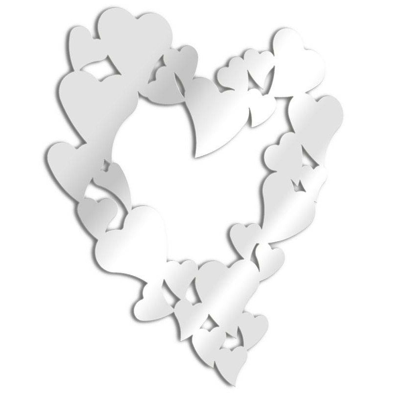 Mirror design hearts