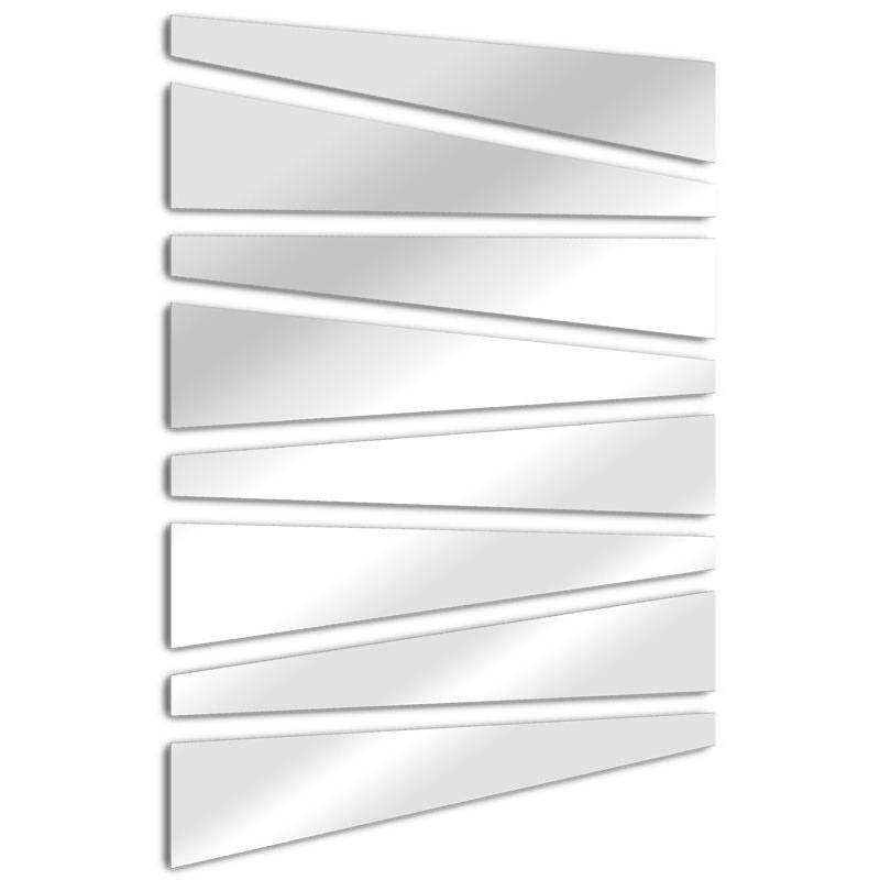 Espejo de diseño trapezoidal hojas