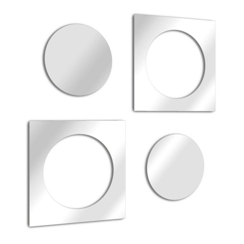 Mirrors round and square design nested