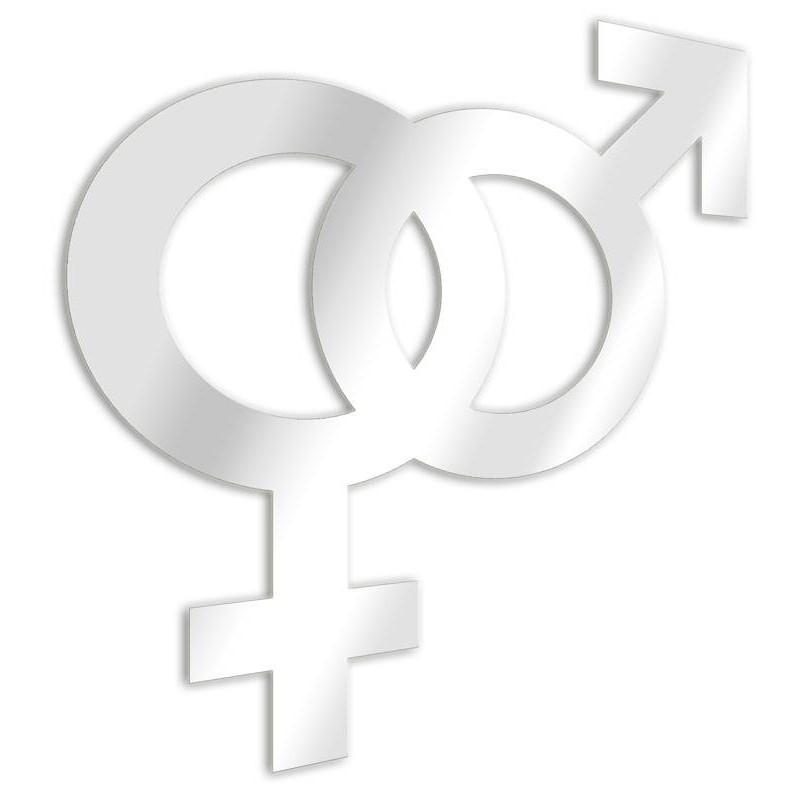 Femenino y Masculino entretejido espejo decorativo