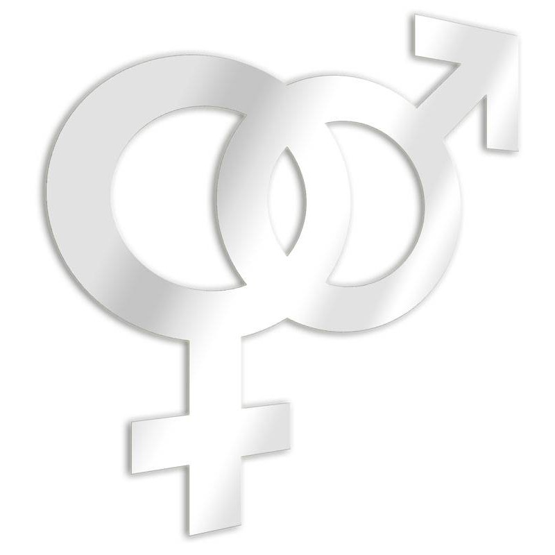 Intrecciati specchio decorativo femminile e maschile