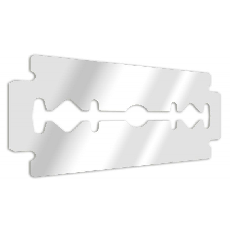 Decorative mirror razor blade