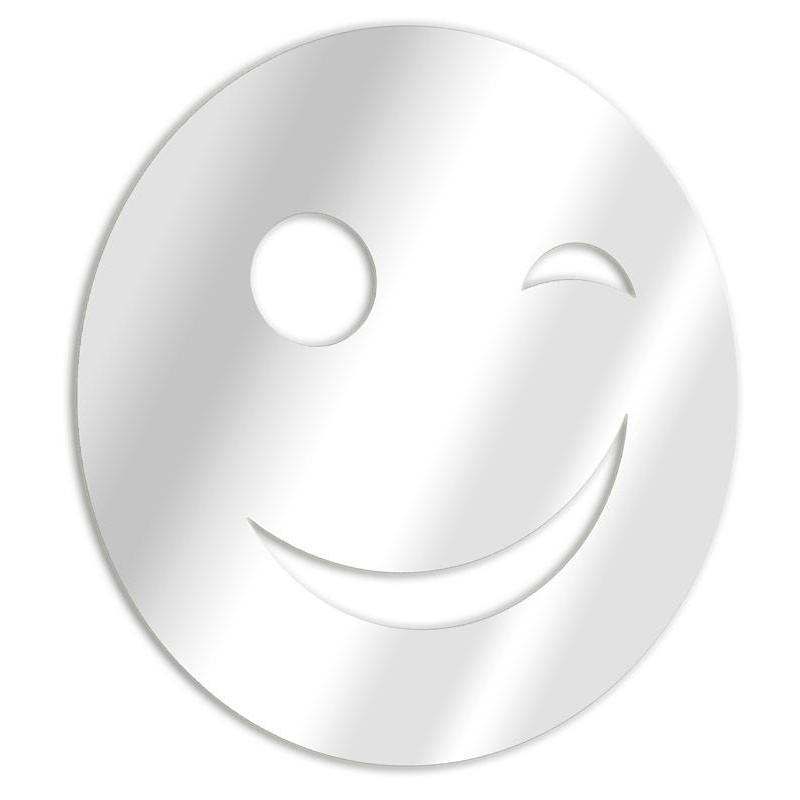 Miroir décoratif smiley clin d'oeil