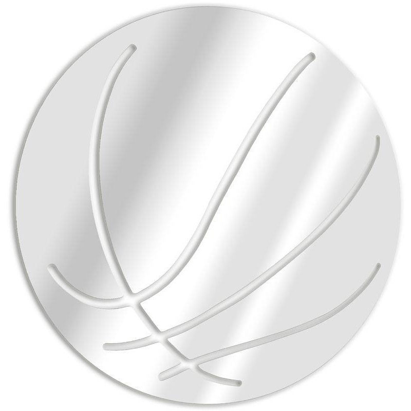 Decorative mirror basketball