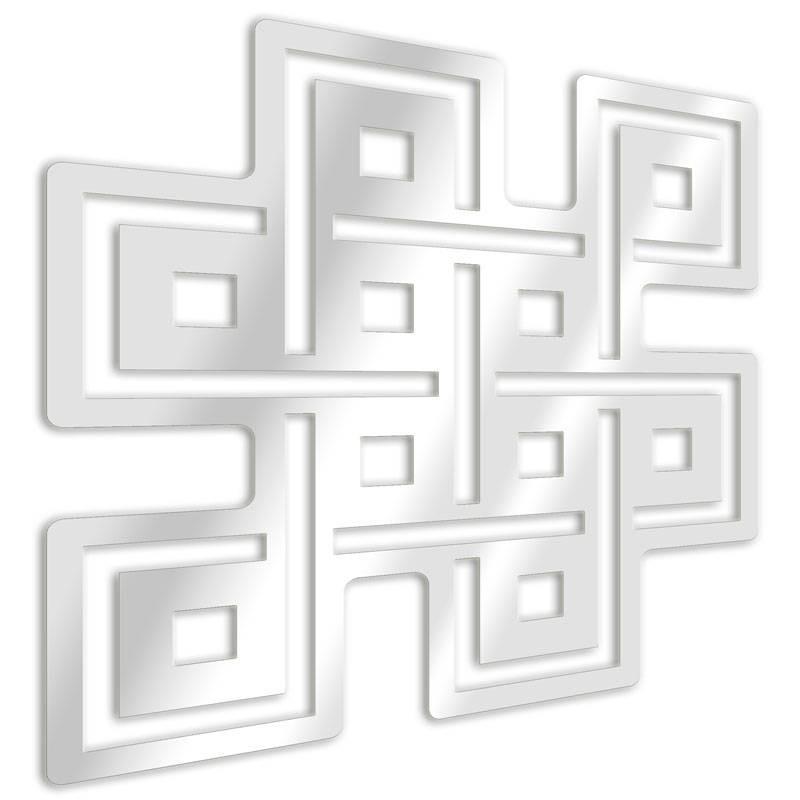 Decorative mirror symbol Buddhist eternal knot
