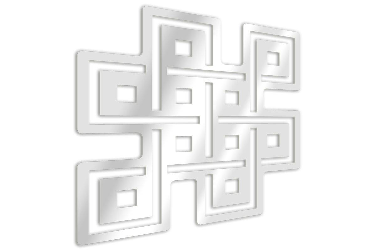 Miroir d coratif symbole bouddhiste noeud ternel for Miroir decoratif