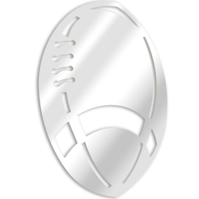 Decorative mirror rugby ball