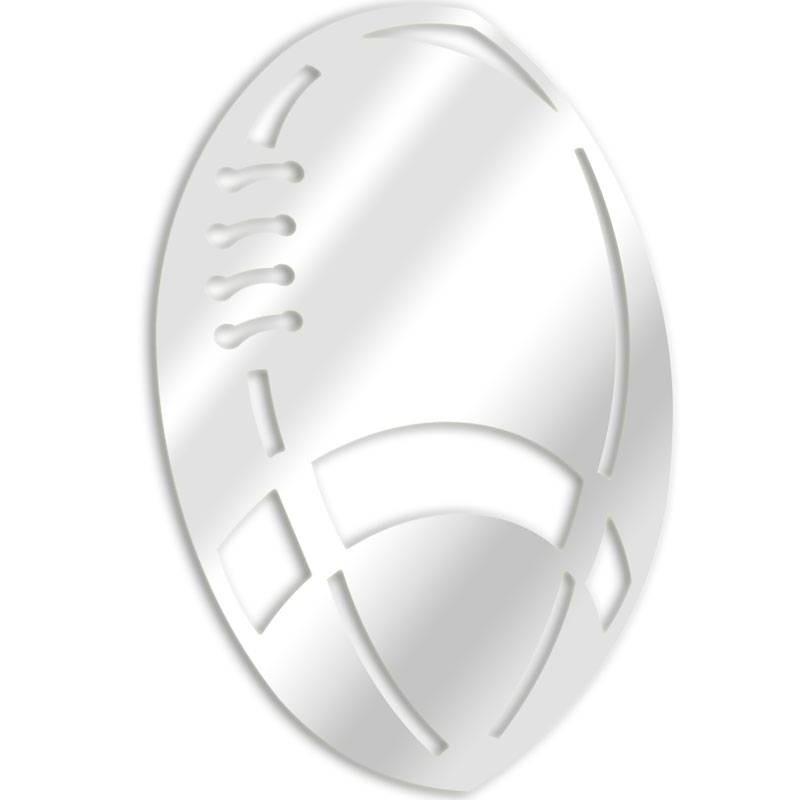 Dekorative Spiegel Rugby-Ball