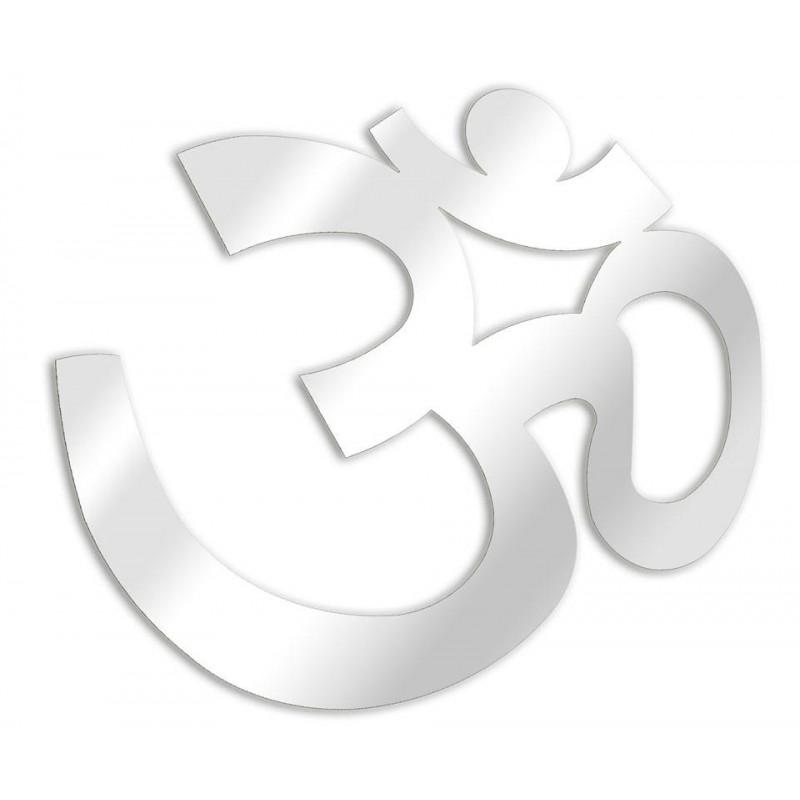 Espejo budista AUM decorativo