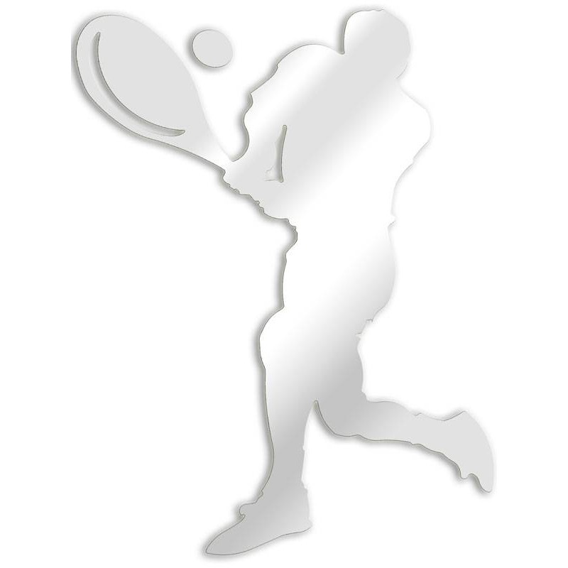 Decorative mirror tennis player