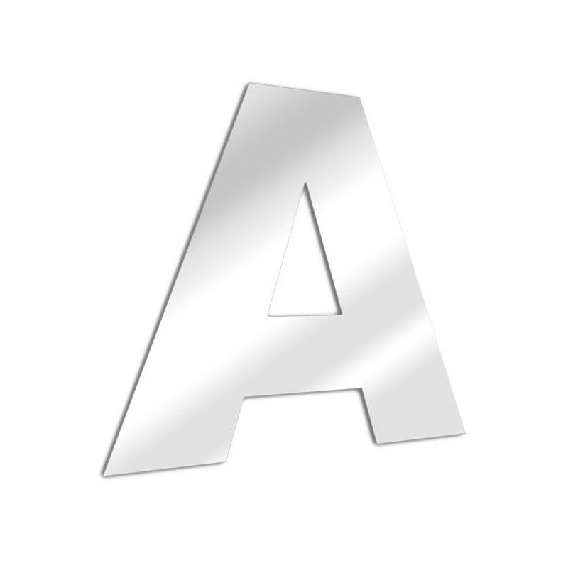 Mirror letter A Arial