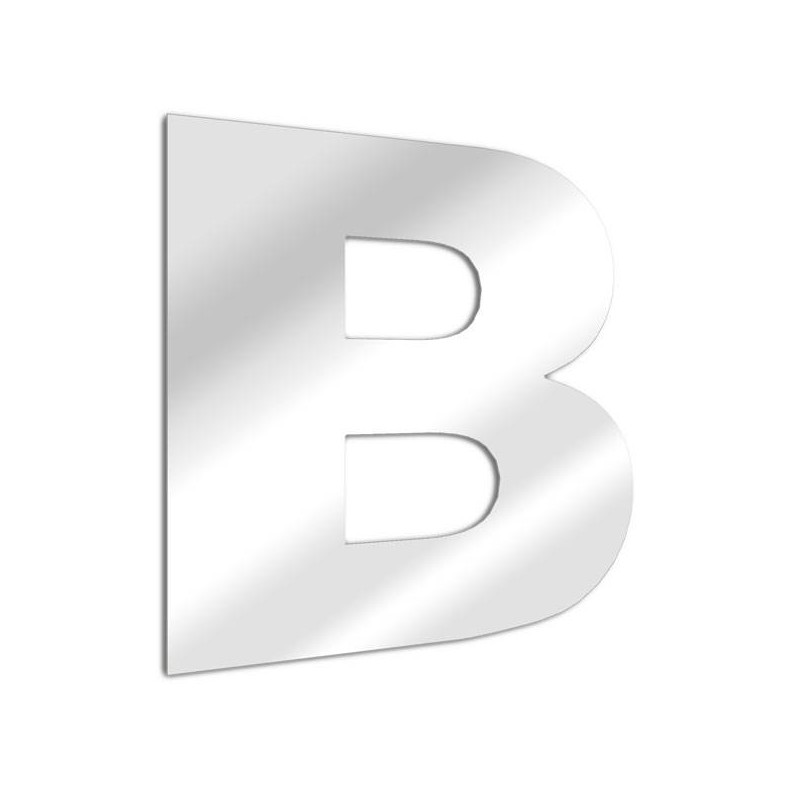 Mirror letter B Arial
