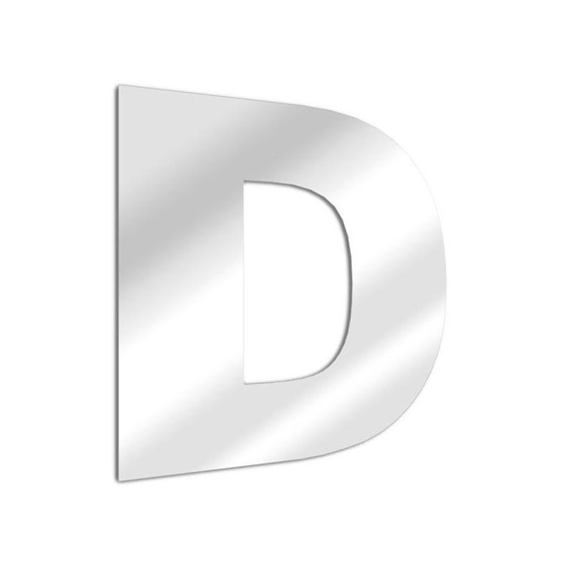 Specchio lettera D Arial