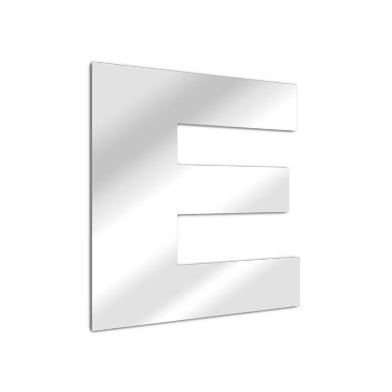 """Specchio lettera """"E"""". carattere arial"""