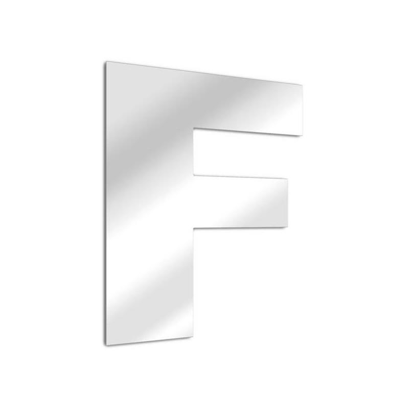 """Specchio lettera """"F"""". carattere arial"""