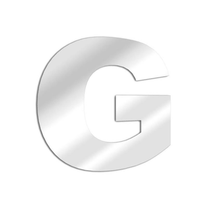 """Spiegel Buchstaben """"G"""". Schriftart Arial"""