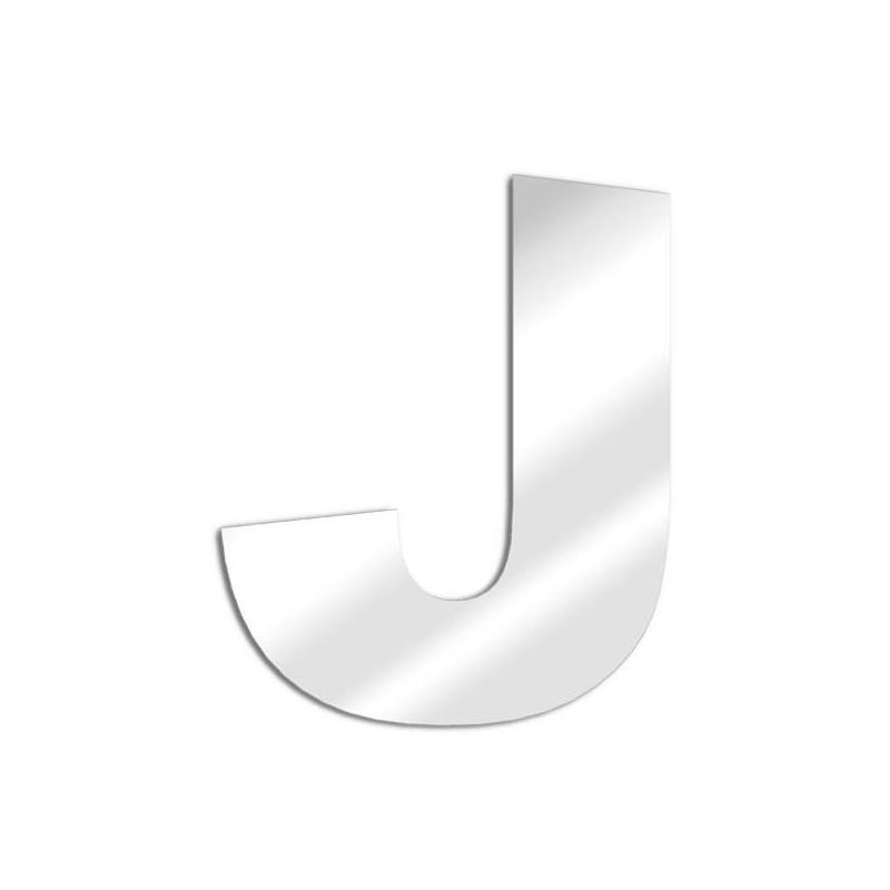"""Specchio lettera """"J"""". carattere arial"""