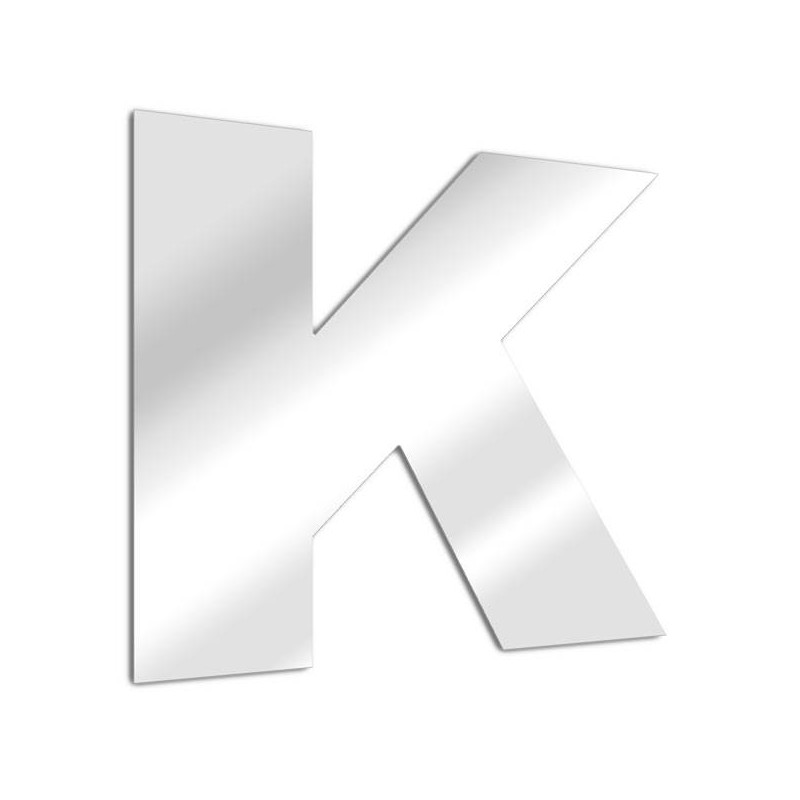 """Espejo letra """"K"""". fuente arial"""