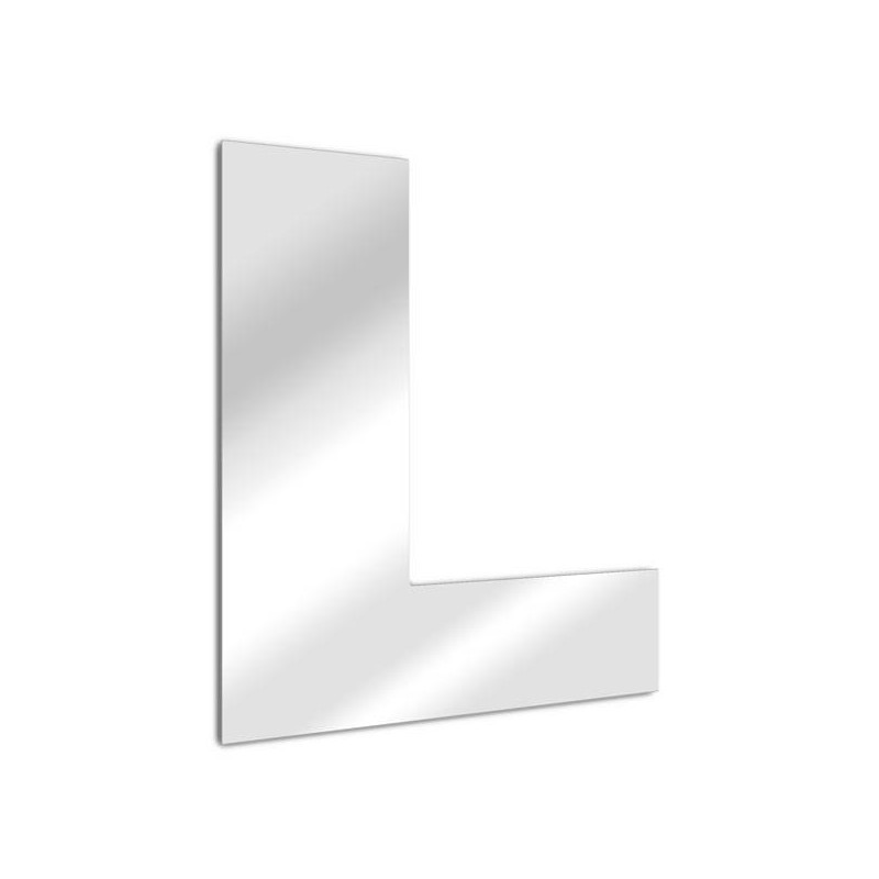 """Specchio lettera """"L"""". carattere arial"""
