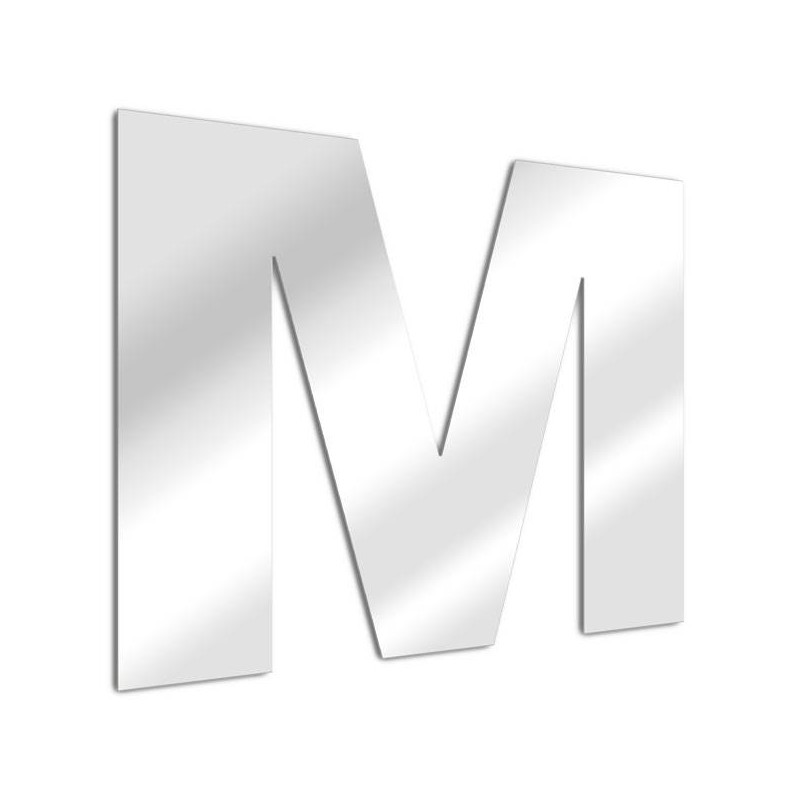Letter mirror M, Arial