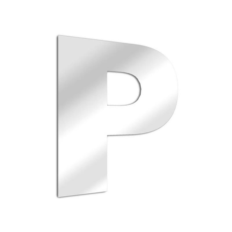 Letra espejo P Arial