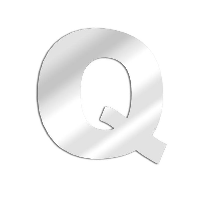 Letter mirror Q, Arial