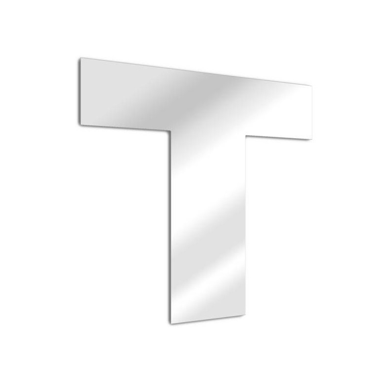 Mirror letter T Arial
