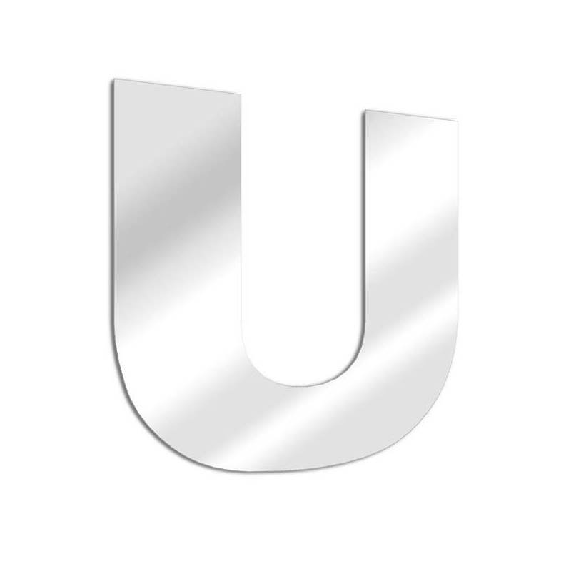 Letter mirror U, Arial