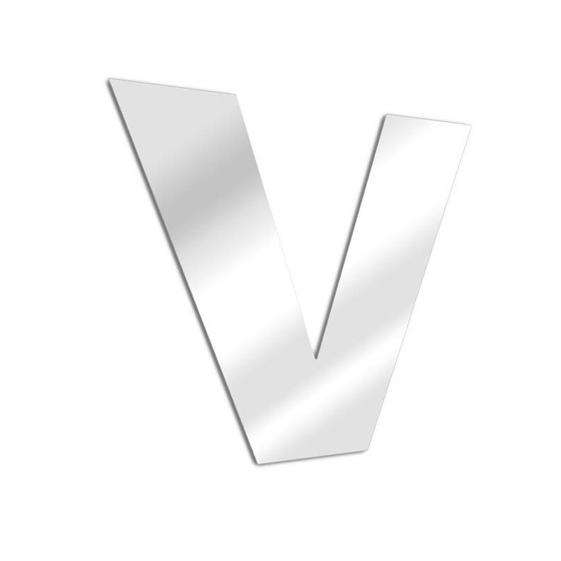 Letter mirror V, Arial
