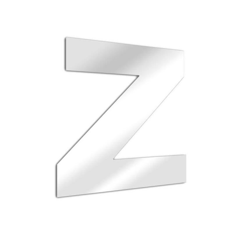 Letter mirror Z, Arial