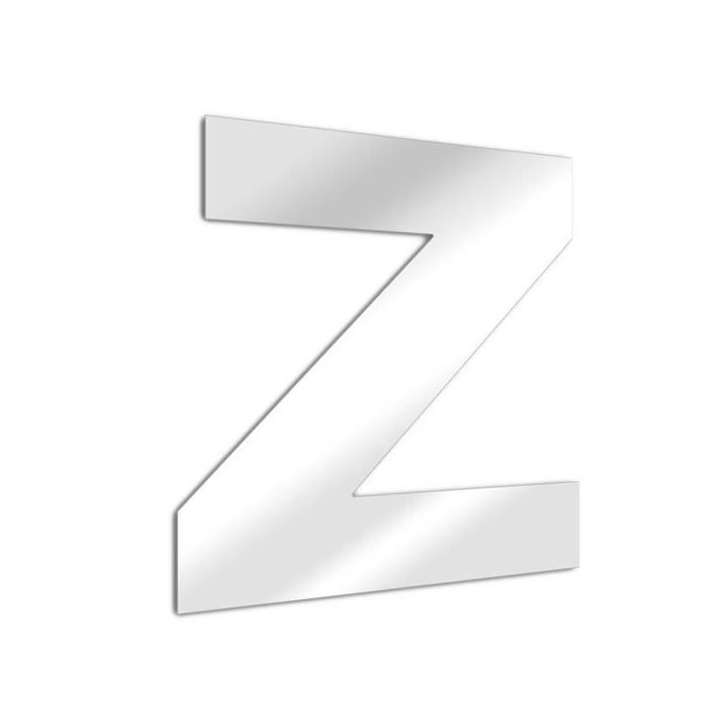 Miroir lettre Z Arial