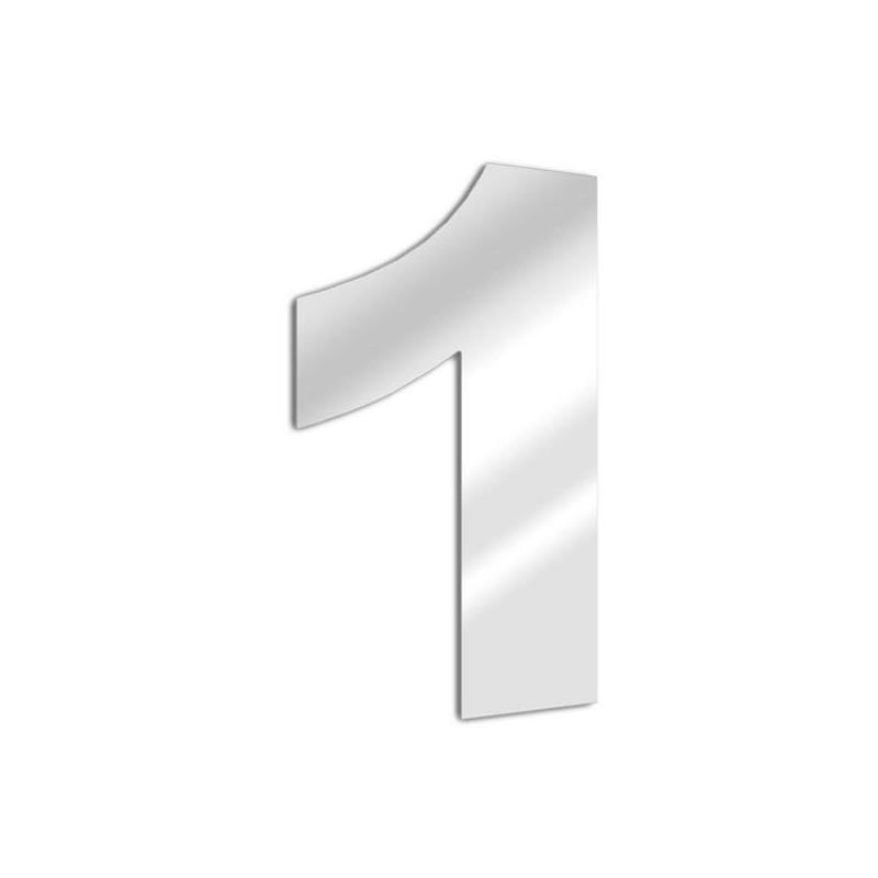 Miroir chiffre 1 Arial