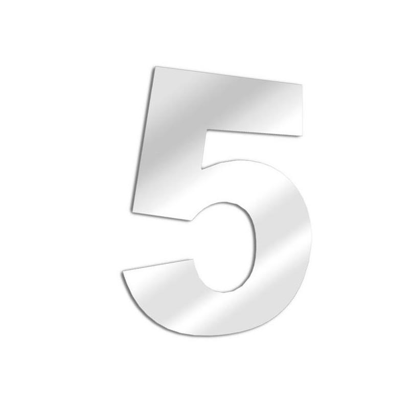 Miroir chiffre 5 Arial - cinq