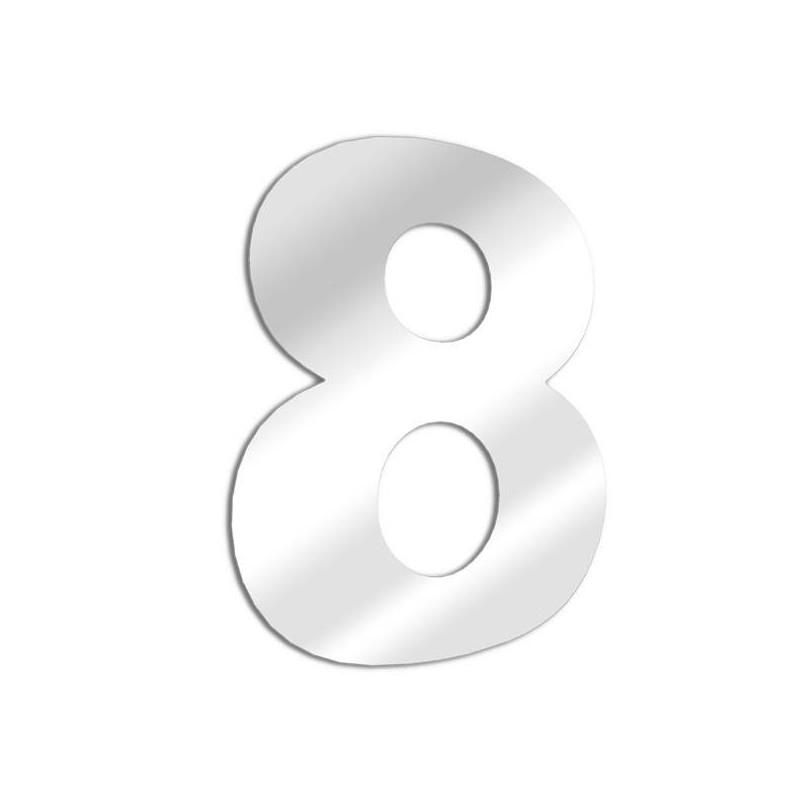 Miroir chiffre 8 Arial - huit