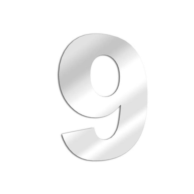 Number mirror 9 arial