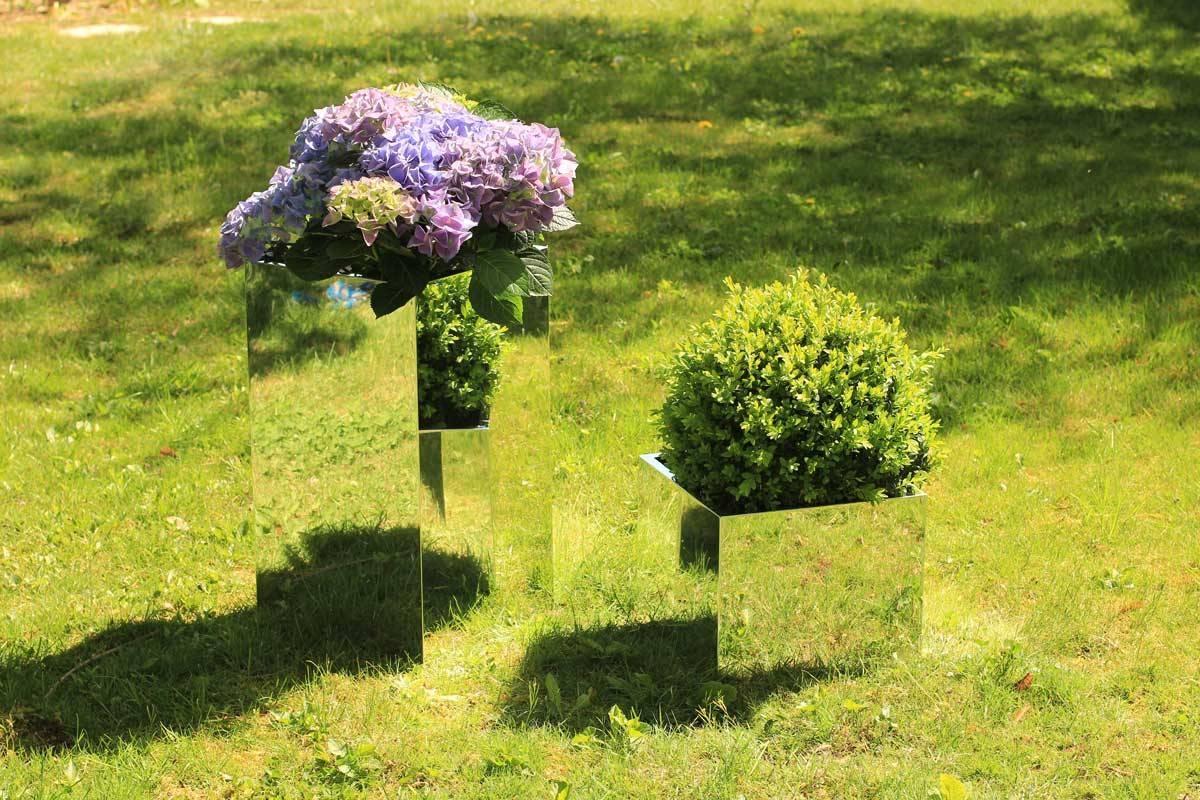 Pot flowers mirror 30x30x25 cm tendance miroir design for Miroir 50 x 25