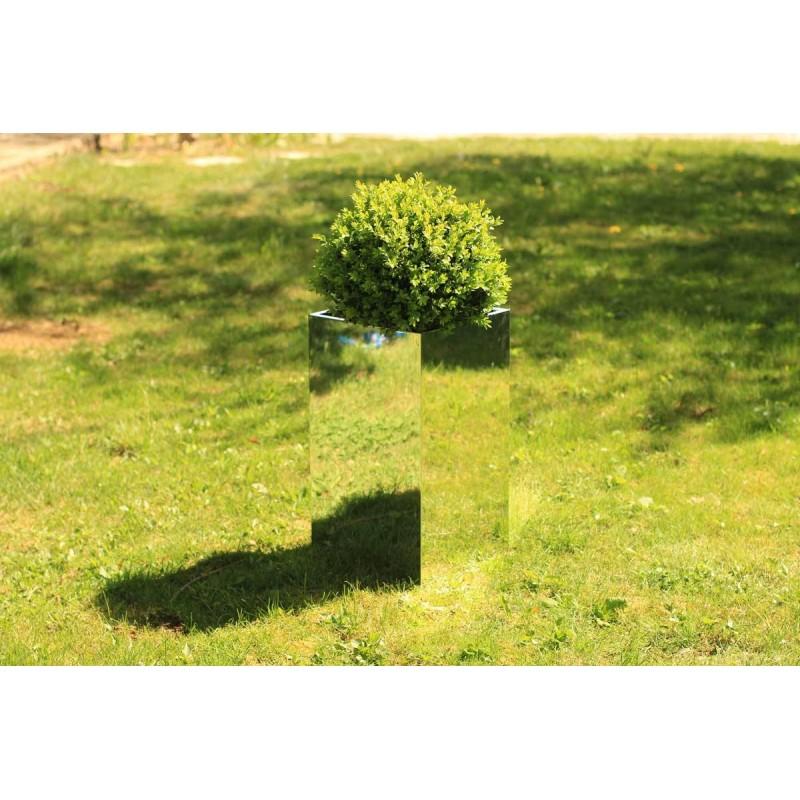 Cache Pot Miroir haut 30x30x55 cm