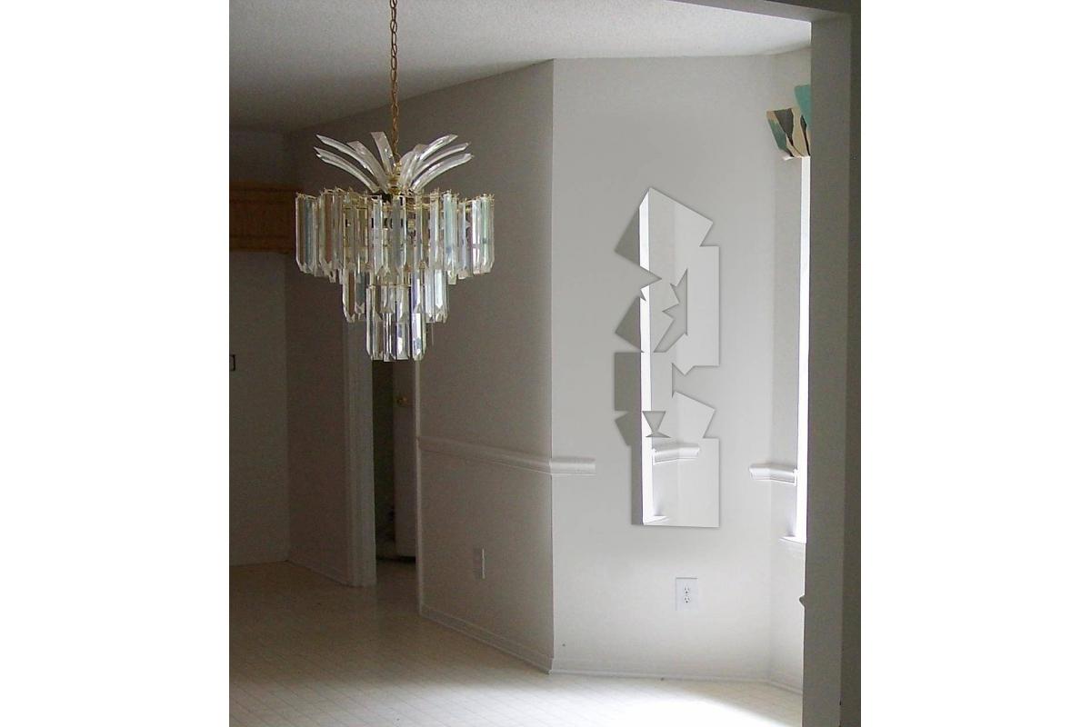 Multiple Mirror Elongated Square Design Tendance Miroir