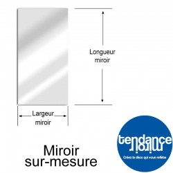 Miroir Aluminium Sur-Mesure Rectangle