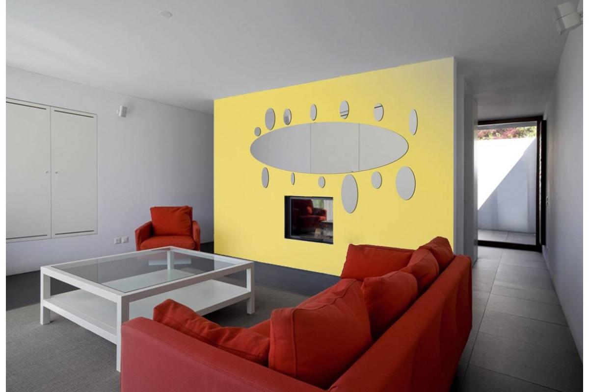 Specchio in alluminio ovale su misura tendance miroir design - Specchio su misura ikea ...