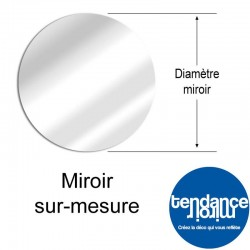Aluminum Mirror Made to Measure Round