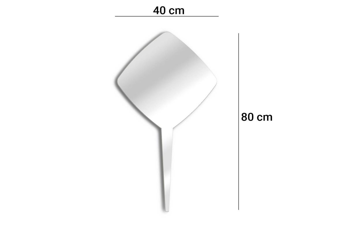Specchio Per Piantare Quadrato 40 Cm Tendancemiroir