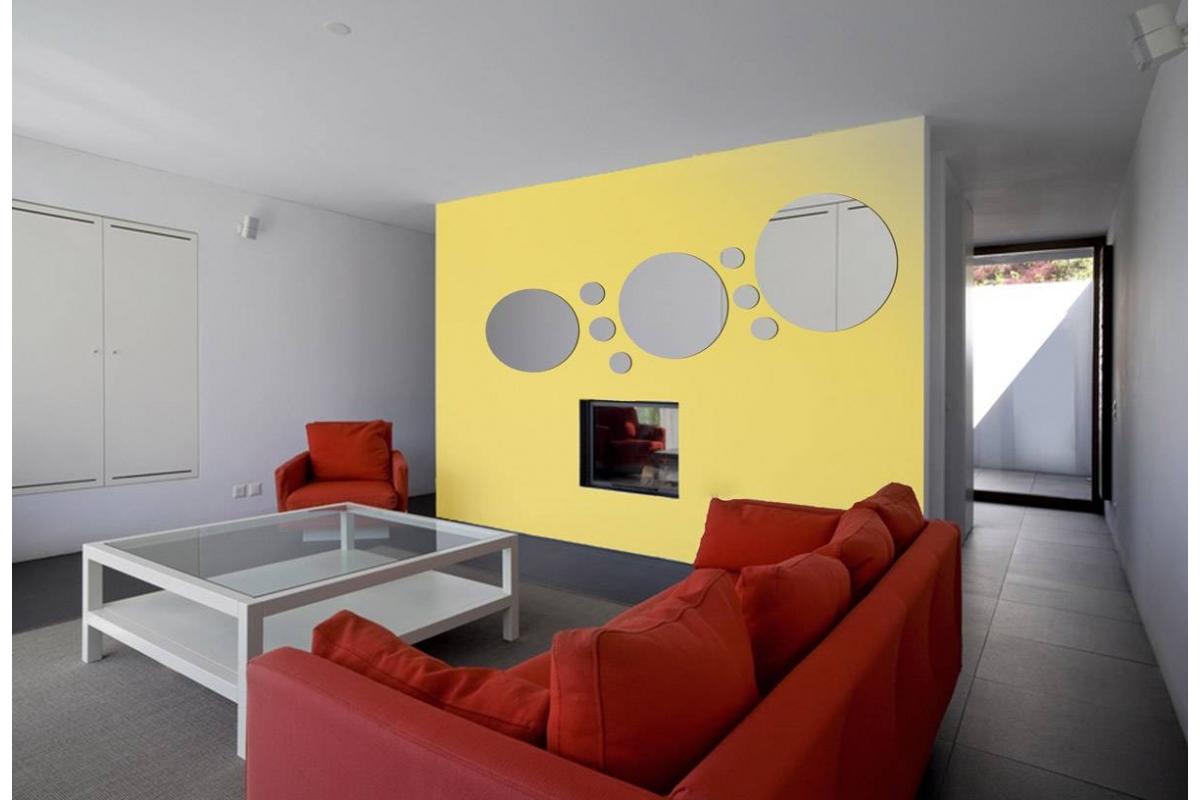 Alluminio specchio su misura rotonda tendancemiroir - Specchio su misura ikea ...